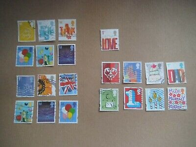 Lot 39) 2006 / 2015 SMILERS SETS GB Commemorative Stamps  USED OFF PAPER CV £80