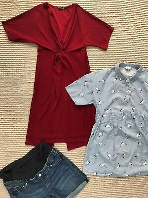 Maternity Bundle Dress boohoo & Top Red Herring Size 12 Shorts H&MSize 14