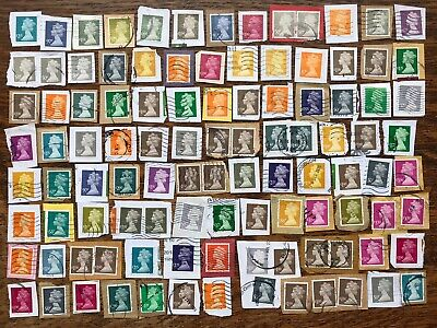 Collection Of Latest High Value GB MACHIN DEFINITIVE STAMPS USED ON PAPER