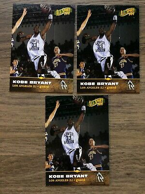 Kobe Bryant 1996 All Sport PPF Rookie Basketball Card #11 - NM (Lot Of 3)