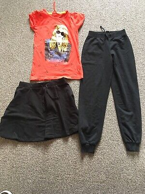 Girls Clothing Bundle, Age 8-10 Years. T-shirt, Skirt, Joggers