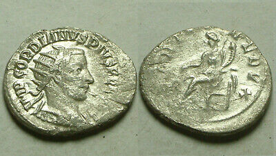 Gordian Fortuna 242 denarius Rare genuine ancient Roman Silver coin Antoninianus