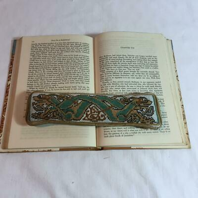 Needlepoint Petitpoint Weighted Book Page Holder