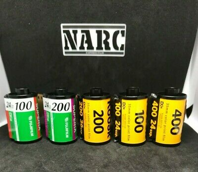 5 rolls - Fuji Superia & Kodak  35mm film  expired film out of date