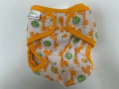 Blueberry Capri Diaper Cover Orange Giraffe Size 2