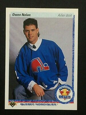 👌 1990-91 Ud Upper Deck French #352 Owen Nolan Rc  👌