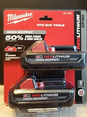 Milwaukee 48-11-1837 M18 Red Lithium High Output 18V 3.0Ah Battery - Pack of 2