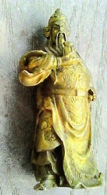 Antique Old Chinese Collectible Tibet Warrior God Figurine Statue