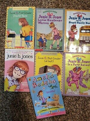 SIX-PACK BUNDLE/LOT OF JUNIE B JONES - Paperbacks - Barbara Park +extra book