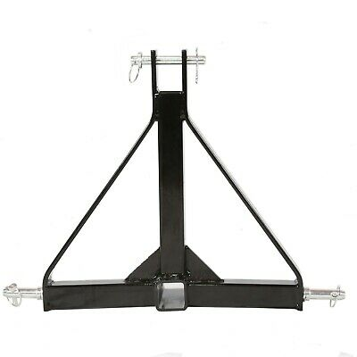 """Category 1 Tractor 3 Point Hitch 2"""" Receiver Tow Drawbar Heavy Duty Tube Steel"""