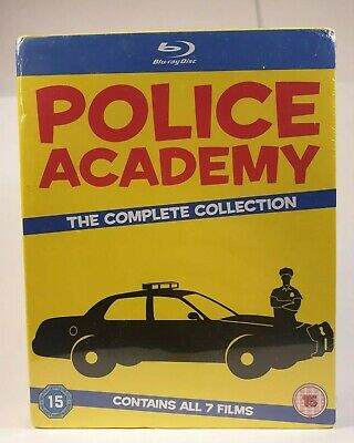 Police Academy the complete collection (7 blu-ray) Uk mport Zone Free neuf New