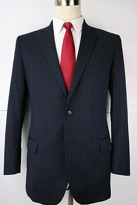 Brooks Brothers Fitzgerald Blue Two Button Wool Suit 40 Regular 35 27 Flat 40R
