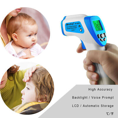 IR Thermometer Non Contact Baby Forehead Infrared Temperature Fever Laser Gun