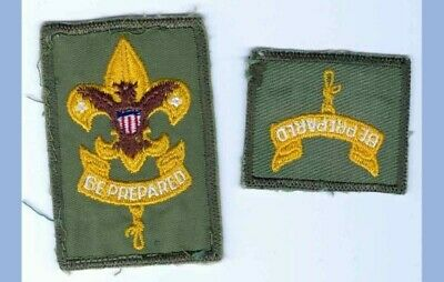 LOT vintage BOY SCOUT 1st 2nd CLASS BADGE bsa BE PREPARED 2pc patches