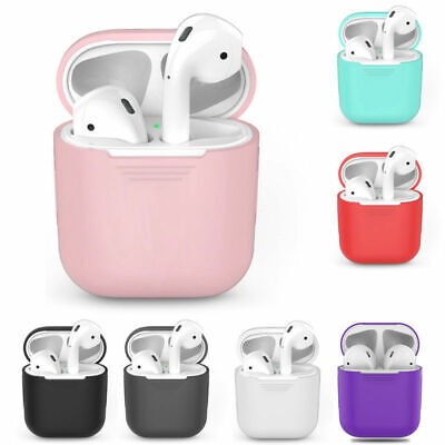 Wireless Earphone Protector Charging Silicone Case Cover Skin ForApple AirPods