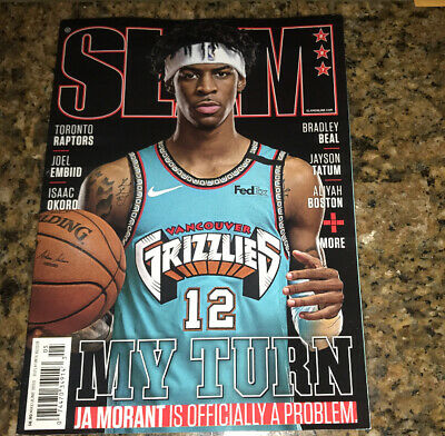New No Label Ja Morant Memphis Grizzlies NBA Rookie Slam Magazine May/June 2020