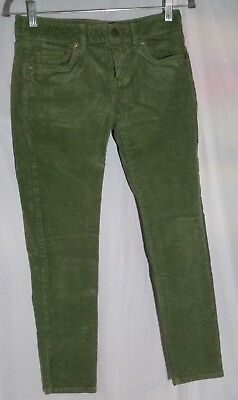 VINEYARD VINES Women's Corduroy Skinny Jeans Tag Size 0 Green Cotton Blend 100S