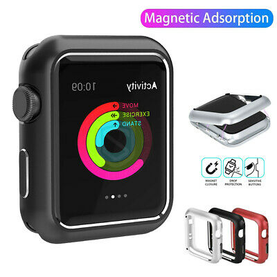 Magnetic Metal Frame Cover Case for Apple Watch 38 40 42 44 iWatch Series 1 2 3