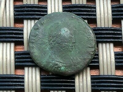 """Theodosius I 379-395 Ad Ae4 """"Victory With Trophy, Chi-Rho"""" Ancient Roman Coin"""