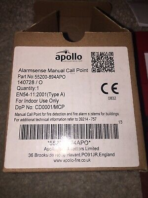 Apollo Alarmsense Manual Call Point Waterproof Red Fire Alarm Point 55200-894