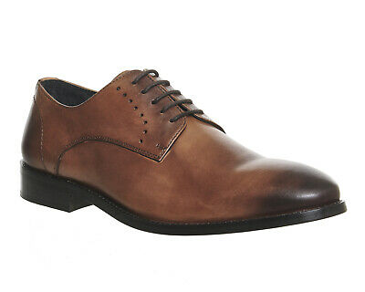 Mens Office Tan Leather Lace Up Formal Shoes Size UK 9 *Ex-Display