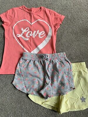 Pep&Co Girls 4-5 Years T Shirt & Shorts Set