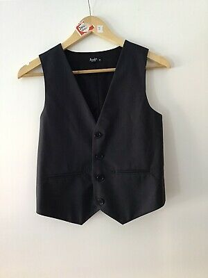 New Boys Bardot Junior Charcoal Vest Size 10