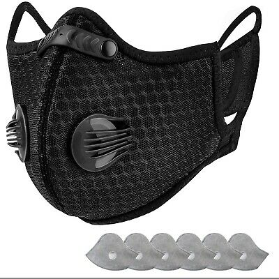 Face Mask Anti Pollution Outdoor Sport Cycling Mouth Nose Face Filter UK