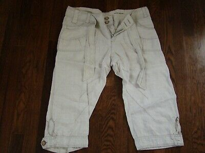 DKNY Jeans Linen Capri Pants Women's Size 8 Beach Outdoor Hiking Made in India