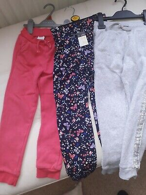3 Pair Of New Girls Jogging Bottoms Leggings Age 5 To 6