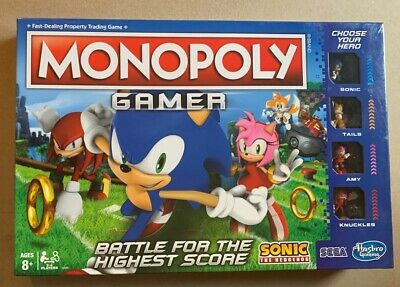 Monopoly Gamer Sonic the Hedgehog Edition Board Game for Ages 8 and Up Brand New