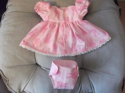 Dolls Dress & Nappy For 10/12Ins Doll