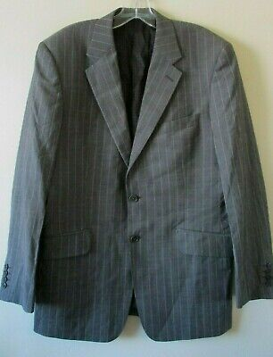 Ted Baker Jacket Elevated Tailored Brown Taupe Pinstripe Wool Sz 40 R