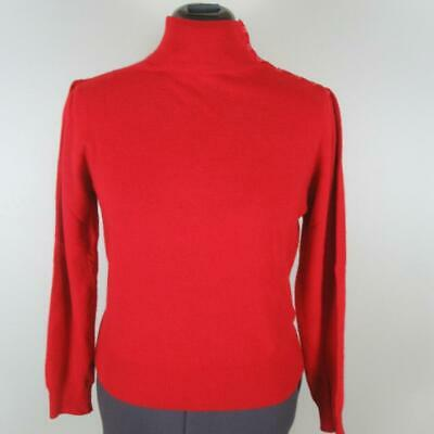 Womens VTG 90s LORD & TAYLOR mock turtleneck lovely CASHMERE sweater M L MINT