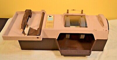 """Vintage Nos Sears Roebuck 6"""" Lapidary Outfit Rock Polisher Grinder Saw New! Slab"""