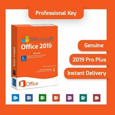 Microsoft Office 2019 Pro Professional Plus Vollversion Software Lizenz-Key PPL✓