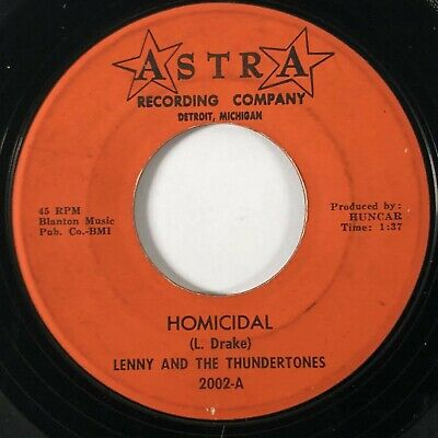 LENNY & THE THUNDERTONES Homicidal Astra Surf Garage Rocker 45 HEAR