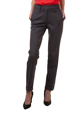RRP €245 PIAZZA SEMPIONE Tailored Trousers Size 40 Stretch Virgin Wool Blend