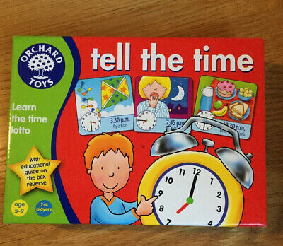 Orchard Toys Tell The Time Game New  Learn The Time Game For Children New