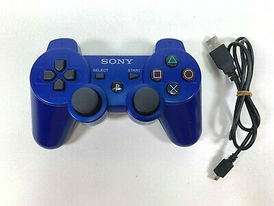 Genuine Sony Sixaxis Dualshock PS3 Playstation 3 Official Blue Controller OEM