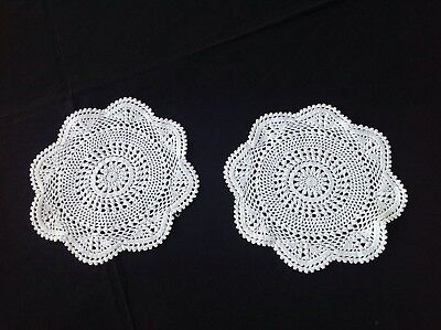 Two Hand Crocheted Doileys - Beautiful Stitches