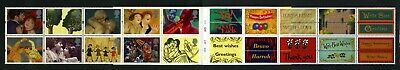 GB 1995 Greetings stamps Greetings in art Booklet pane SG1858a MNH / UMM FV£7.60