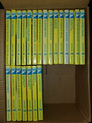Nancy Drew shiny hardcover lot of 21 from 1 thru 55  EXCELLENT