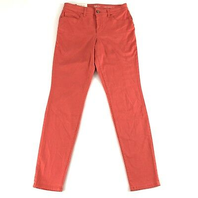 Style & Co Womens Pants Jean Coral Comfort Waist Cuffed Curvy Skinny Leg Size 4