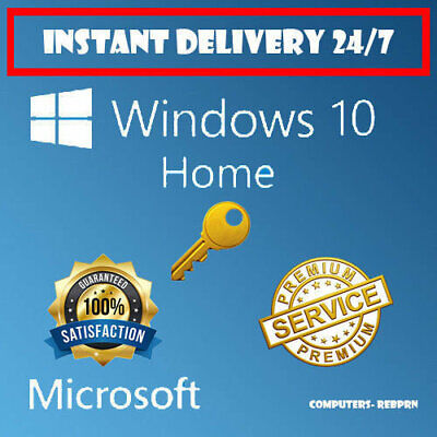 Genuine Windows 10 Home Lifetime Activation License Key🔑 [🔥INSTANT DELIVERY🔥]