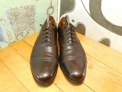 Peal & Co. Brooks Brothers Brown Leather Cap Toe Oxfords Mens 8D Made in England