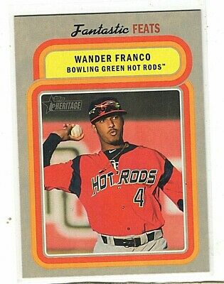 2019 Topps Heritage Minor League Wander Franco Fantastic Feats Insert #FF-2