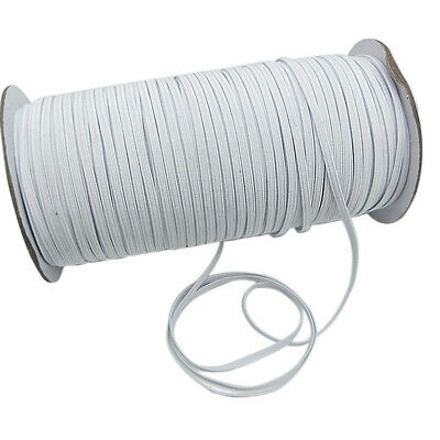 100M 1/4'' Elastic Rope Band Rubber Tape Stretch String Ear Hanging Sewing US