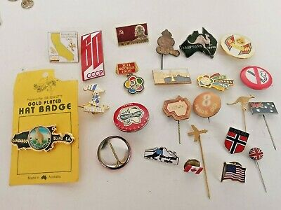 Collection Of 24 Assorted Lapel Badges