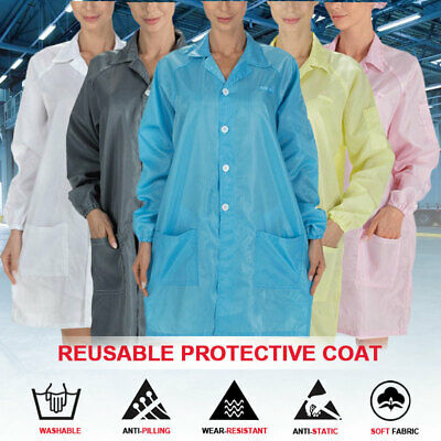 AU Reusable  Protective Suit Coat Safety Anti-static Clothing Lab Safety Suit